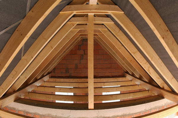 Panorama of the attic looking eastward.