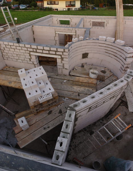 The inner walls from above.