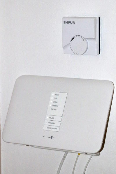 router below the thermostat