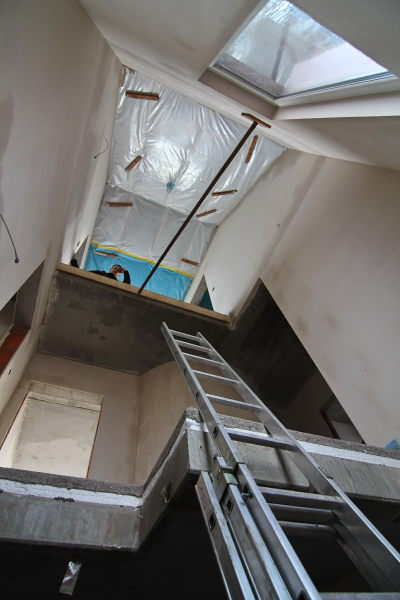 View from the cellar into the staircase
