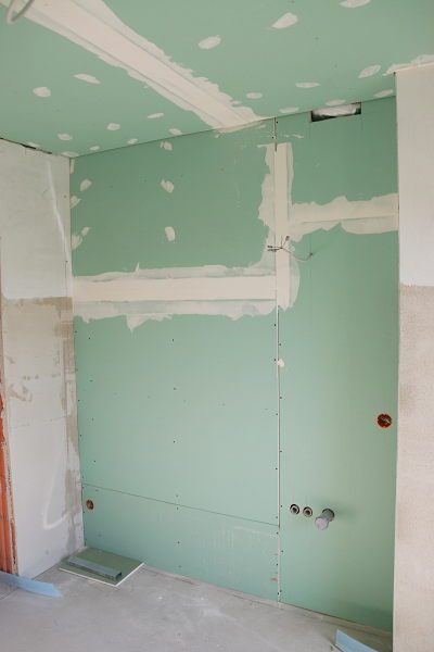 Drywall in the bathroom